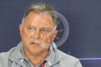 World © Octane Photographic Ltd. F1 British GP FIA Personnel Press Conference, Silverstone, UK. Friday 8th July 2016. Dave Ryan – Manor Racing Racing Director. Digital Ref : 1624LB1D2738