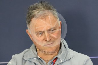 World © Octane Photographic Ltd. F1 British GP FIA Personnel Press Conference, Silverstone, UK. Friday 8th July 2016. Dave Ryan – Manor Racing Racing Director. Digital Ref : 1624LB1D2797