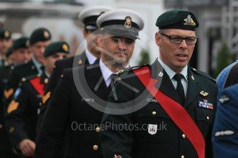 World © Octane Photographic Ltd. Royal Canadian Army (RENS). Sunday 12th June 2016, F1 Canadian GP Drivers' parade, Circuit Gilles Villeneuve, Montreal, Canada. Digital Ref :1591LB1D2898