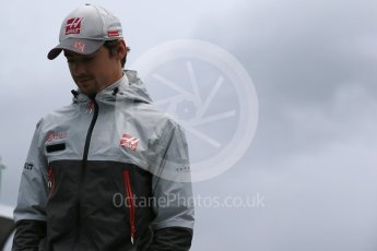 World © Octane Photographic Ltd. Haas F1 Team - Esteban Gutierrez. Sunday 12th June 2016, F1 Canadian GP Drivers' parade, Circuit Gilles Villeneuve, Montreal, Canada. Digital Ref :1591LB1D2999