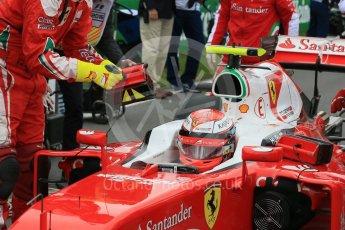 World © Octane Photographic Ltd. Scuderia Ferrari SF16-H – Kimi Raikkonen. Sunday 12th June 2016, F1 Canadian GP Parc Ferme, Circuit Gilles Villeneuve, Montreal, Canada. Digital Ref :1591LB1D3280