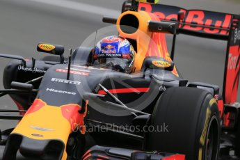 World © Octane Photographic Ltd. Red Bull Racing RB12 – Max Verstappen. Friday 10th June 2016, F1 Canadian GP Practice 1, Circuit Gilles Villeneuve, Montreal, Canada. Digital Ref : 1586LB1D0063