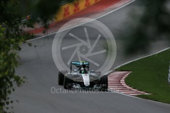 World © Octane Photographic Ltd. Mercedes AMG Petronas W07 Hybrid – Nico Rosberg. Friday 10th June 2016, F1 Canadian GP Practice 1, Circuit Gilles Villeneuve, Montreal, Canada. Digital Ref : 1586LB1D9619