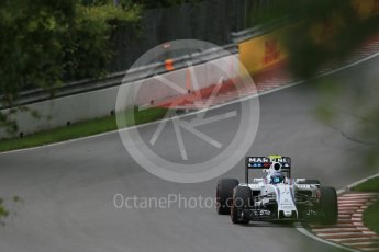 World © Octane Photographic Ltd. Williams Martini Racing, Williams Mercedes FW38 – Valtteri Bottas. Friday 10th June 2016, F1 Canadian GP Practice 1, Circuit Gilles Villeneuve, Montreal, Canada. Digital Ref : 1586LB1D9730