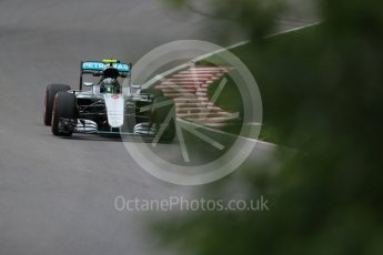 World © Octane Photographic Ltd. Mercedes AMG Petronas W07 Hybrid – Nico Rosberg. Friday 10th June 2016, F1 Canadian GP Practice 1, Circuit Gilles Villeneuve, Montreal, Canada. Digital Ref : 1586LB1D9836