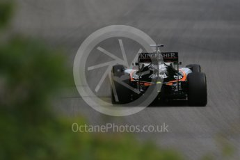 World © Octane Photographic Ltd. Sahara Force India VJM09 - Nico Hulkenberg. Friday 10th June 2016, F1 Canadian GP Practice 1, Circuit Gilles Villeneuve, Montreal, Canada. Digital Ref : 1586LB1D9935