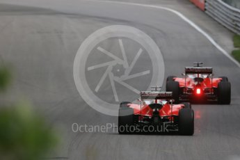 World © Octane Photographic Ltd. Scuderia Ferrari SF16-H – Sebastian Vettel and Kimi Raikkonen. Friday 10th June 2016, F1 Canadian GP Practice 1, Circuit Gilles Villeneuve, Montreal, Canada. Digital Ref : 1586LB1D9943