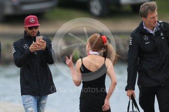 World © Octane Photographic Ltd. Mercedes AMG Petronas – Lewis Hamilton. Sunday 12th June 2016, F1 Canadian GP Paddock, Circuit Gilles Villeneuve, Montreal, Canada. Digital Ref :1590LB1D2570