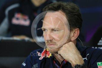 World © Octane Photographic Ltd. F1 Canadian GP FIA Personnel Press Conference, Circuit Gilles Villeneuve, Montreal, Canada. Friday 10th June 2016. Christian Horner – Team Principal Red Bull Racing. Digital Ref :1585LB1D0686