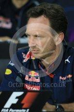 World © Octane Photographic Ltd. F1 Canadian GP FIA Personnel Press Conference, Circuit Gilles Villeneuve, Montreal, Canada. Friday 10th June 2016. Christian Horner – Team Principal Red Bull Racing. Digital Ref :1585LB1D0735