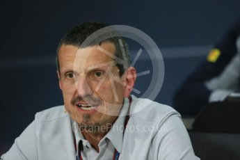 World © Octane Photographic Ltd. F1 Canadian GP FIA Personnel Press Conference, Circuit Gilles Villeneuve, Montreal, Canada. Friday 10th June 2016. Guenther Steiner – Team Principal Haas F1. Digital Ref :1585LB1D0760