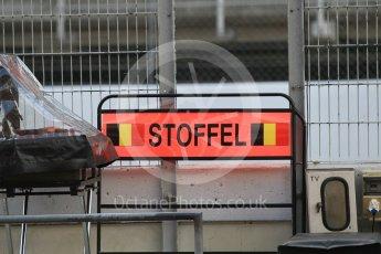 World © Octane Photographic Ltd. McLaren Honda - Stoffel Vandoorne pit board. Wednesday 18th May 2016, F1 Spanish GP In-season testing, Circuit de Barcelona Catalunya, Spain. Digital Ref : 1556CB1D3473