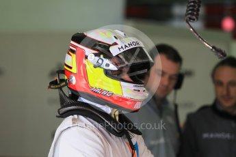 World © Octane Photographic Ltd. Manor Racing MRT05 – Jordan King. Wednesday 18th May 2016. F1 Spanish GP In-season testing, Circuit de Barcelona Catalunya, Spain. Digital Ref : 1556CB1D3483