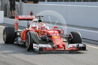 World © Octane Photographic Ltd. Scuderia Ferrari SF16-H – Antonio Fuoco. Wednesday 18th May 2016, F1 Spanish GP In-season testing, Circuit de Barcelona Catalunya, Spain. Digital Ref : 1556CB1D3509