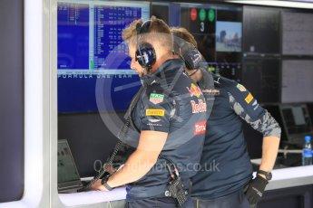 World © Octane Photographic Ltd. Red Bull Racing team members. Wednesday 18th May 2016, F1 Spanish GP In-season testing, Circuit de Barcelona Catalunya, Spain. Digital Ref : 1556CB1D3776