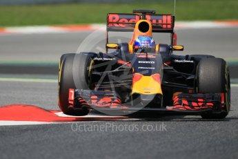 World © Octane Photographic Ltd. Red Bull Racing RB12 – Max Verstappen. Wednesday 18th May 2016, F1 Spanish GP In-season testing, Circuit de Barcelona Catalunya, Spain. Digital Ref :
