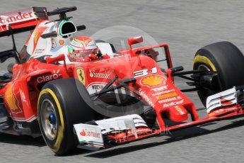 World © Octane Photographic Ltd. Scuderia Ferrari SF16-H – Antonio Fuoco. Wednesday 18th May 2016, F1 Spanish GP In-season testing, Circuit de Barcelona Catalunya, Spain. Digital Ref : 1556CB1D4263