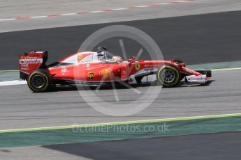 World © Octane Photographic Ltd. Scuderia Ferrari SF16-H – Antonio Fuoco. Wednesday 18th May 2016, F1 Spanish GP In-season testing, Circuit de Barcelona Catalunya, Spain. Digital Ref : 1556CB7D9479