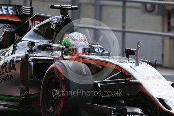 World © Octane Photographic Ltd. Sahara Force India VJM09 - Alfonso Celis. Wednesday 18th May 2016, F1 Spanish GP In-season testing, Circuit de Barcelona Catalunya, Spain. Digital Ref : 1556LB1D0551