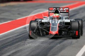 World © Octane Photographic Ltd. Haas F1 Team VF-16 - Esteban Gutierrez. Wednesday 18th May 2016, F1 Spanish GP In-season testing, Circuit de Barcelona Catalunya, Spain. Digital Ref : 1556LB1D0733