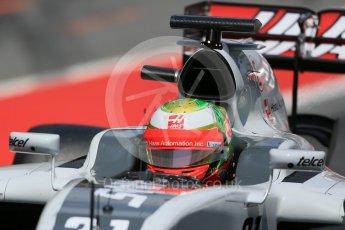 World © Octane Photographic Ltd. Haas F1 Team VF-16 - Esteban Gutierrez. Wednesday 18th May 2016, F1 Spanish GP In-season testing, Circuit de Barcelona Catalunya, Spain. Digital Ref : 1556LB1D0750