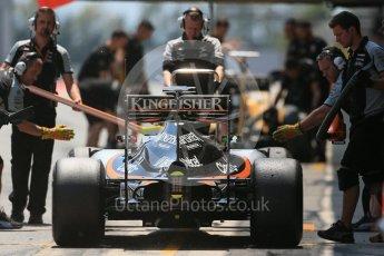World © Octane Photographic Ltd. Sahara Force India VJM09 - Alfonso Celis. Wednesday 18th May 2016, F1 Spanish GP In-season testing, Circuit de Barcelona Catalunya, Spain. Digital Ref : 1556LB1D0970