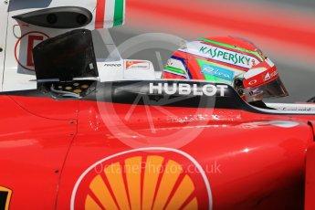 World © Octane Photographic Ltd. Scuderia Ferrari SF16-H – Antonio Fuoco. Wednesday 18th May 2016, F1 Spanish GP In-season testing, Circuit de Barcelona Catalunya, Spain. Digital Ref : 1556LB1D0989