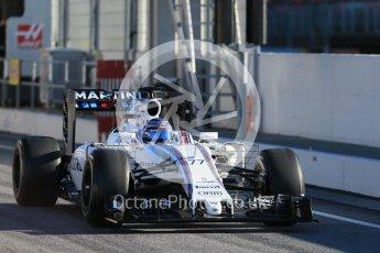 World © Octane Photographic Ltd. Williams Martini Racing, Williams Mercedes FW38 – Valtteri Bottas. Tuesday 1st March 2016, F1 Winter testing, Circuit de Barcelona Catalunya, Spain, Day 5. Digital Ref : 1508LB1D4208
