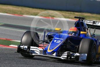 World © Octane Photographic Ltd. Sauber F1 Team C35 – Felipe Nasr. Tuesday 1st March 2016, F1 Winter testing, Circuit de Barcelona Catalunya, Spain, Day 5. Digital Ref : 1508LB1D4433