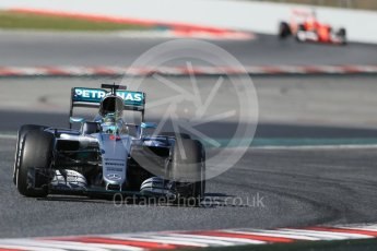 World © Octane Photographic Ltd. Mercedes AMG Petronas W07 Hybrid – Nico Rosberg. Tuesday 1st March 2016, F1 Winter testing, Circuit de Barcelona Catalunya, Spain, Day 5. Digital Ref : 1508LB1D4639