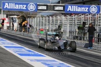World © Octane Photographic Ltd. Mercedes AMG Petronas W07 Hybrid – Lewis Hamilton. Tuesday 1st March 2016, F1 Winter testing, Circuit de Barcelona Catalunya, Spain, Day 5. Digital Ref : 1508LB1D4912
