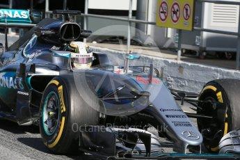 World © Octane Photographic Ltd. Mercedes AMG Petronas W07 Hybrid – Lewis Hamilton. Tuesday 1st March 2016, F1 Winter testing, Circuit de Barcelona Catalunya, Spain, Day 5. Digital Ref : 1508LB1D4921