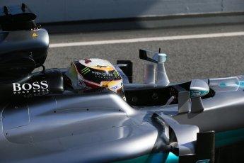 World © Octane Photographic Ltd. Mercedes AMG Petronas W07 Hybrid – Lewis Hamilton. Tuesday 1st March 2016, F1 Winter testing, Circuit de Barcelona Catalunya, Spain, Day 5. Digital Ref : 1508LB1D4933