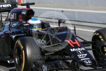 World © Octane Photographic Ltd. McLaren Honda MP4-31 – Fernando Alonso. Tuesday 1st March 2016, F1 Winter testing, Circuit de Barcelona Catalunya, Spain, Day 5. Digital Ref : 1508LB1D4944