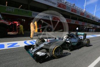 World © Octane Photographic Ltd. Mercedes AMG Petronas W07 Hybrid – Lewis Hamilton. Tuesday 1st March 2016, F1 Winter testing, Circuit de Barcelona Catalunya, Spain, Day 5. Digital Ref : 1508LB5D9165