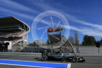 World © Octane Photographic Ltd. Mercedes AMG Petronas W07 Hybrid – Lewis Hamilton. Tuesday 1st March 2016, F1 Winter testing, Circuit de Barcelona Catalunya, Spain, Day 5. Digital Ref : 1508LB5D9200