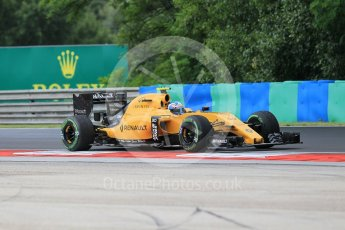 World © Octane Photographic Ltd. Renault Sport F1 Team RS16 – Jolyon Palmer. Friday 22nd July 2016, F1 Hungarian GP Practice 1, Hungaroring, Hungary. Digital Ref :