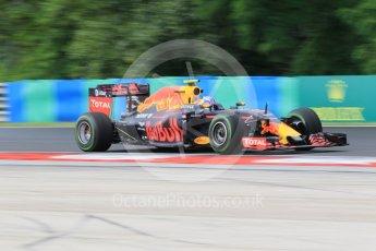World © Octane Photographic Ltd. Red Bull Racing RB12 – Max Verstappen. Friday 22nd July 2016, F1 Hungarian GP Practice 1, Hungaroring, Hungary. Digital Ref :