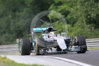 World © Octane Photographic Ltd. Mercedes AMG Petronas W07 Hybrid – Lewis Hamilton. Friday 22nd July 2016, F1 Hungarian GP Practice 1, Hungaroring, Hungary. Digital Ref :