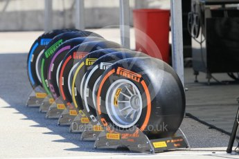 World © Octane Photographic Ltd. Pirelli F1 tyre range Friday 22nd July 2016, F1 Hungarian GP Practice 1, Hungaroring, Hungary. Digital Ref :