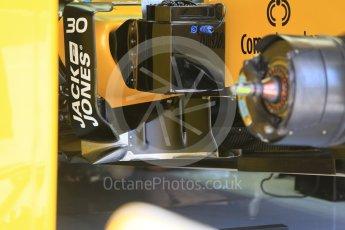 World © Octane Photographic Ltd. Renault Sport F1 Team RS16 front suspension. Friday 22nd July 2016, F1 Hungarian GP Practice 1, Hungaroring, Hungary. Digital Ref :