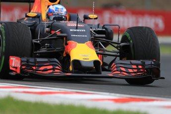 World © Octane Photographic Ltd. Red Bull Racing RB12 – Daniel Ricciardo. Friday 22nd July 2016, F1 Hungarian GP Practice 1, Hungaroring, Hungary. Digital Ref :