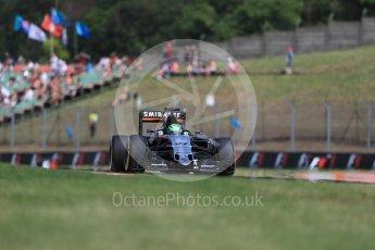World © Octane Photographic Ltd. Sahara Force India VJM09 - Nico Hulkenberg. Friday 22nd July 2016, F1 Hungarian GP Practice 1, Hungaroring, Hungary. Digital Ref :