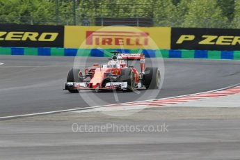 World © Octane Photographic Ltd. Scuderia Ferrari SF16-H – Sebastian Vettel. Friday 22nd July 2016, F1 Hungarian GP Practice 2, Hungaroring, Hungary. Digital Ref : 1641CB1D6602