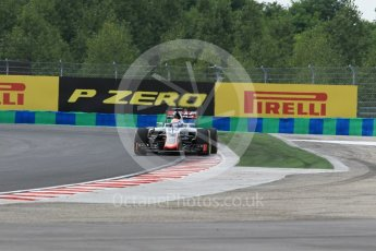 World © Octane Photographic Ltd. Haas F1 Team VF-16 – Romain Grosjean. Friday 22nd July 2016, F1 Hungarian GP Practice 2, Hungaroring, Hungary. Digital Ref : 1641CB1D6621