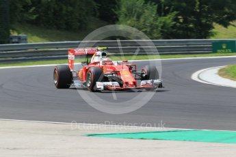 World © Octane Photographic Ltd. Scuderia Ferrari SF16-H – Kimi Raikkonen. Friday 22nd July 2016, F1 Hungarian GP Practice 2, Hungaroring, Hungary. Digital Ref : 1641CB1D6814