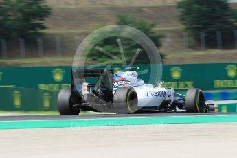World © Octane Photographic Ltd. Williams Martini Racing, Williams Mercedes FW38 – Valtteri Bottas. Friday 22nd July 2016, F1 Hungarian GP Practice 2, Hungaroring, Hungary. Digital Ref : 1641CB1D6836