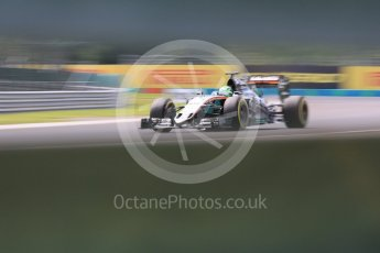 World © Octane Photographic Ltd. Sahara Force India VJM09 - Nico Hulkenberg. Friday 22nd July 2016, F1 Hungarian GP Practice 2, Hungaroring, Hungary. Digital Ref : 1641CB5D6924