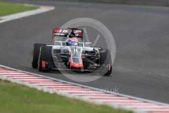 World © Octane Photographic Ltd. Haas F1 Team VF-16 – Romain Grosjean. Friday 22nd July 2016, F1 Hungarian GP Practice 2, Hungaroring, Hungary. Digital Ref : 1641LB1D1563