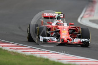 World © Octane Photographic Ltd. Scuderia Ferrari SF16-H – Kimi Raikkonen. Friday 22nd July 2016, F1 Hungarian GP Practice 2, Hungaroring, Hungary. Digital Ref : 1641LB1D1693